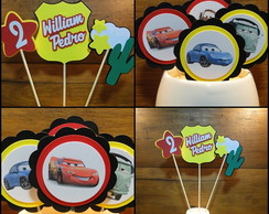 Kit Toppers - Carros Disney