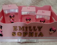 Kit de higiene Minnie Rosa