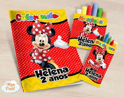 Kit colorir giz massinha Minnie