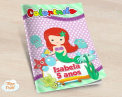 Revista colorir Ariel Cute