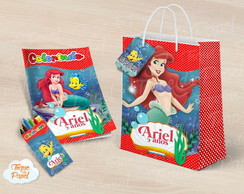 Kit colorir giz sacola Ariel