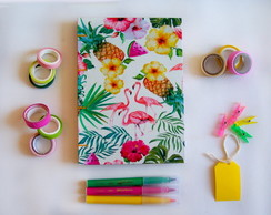 Caderno Sketchbook Grande Flamingo