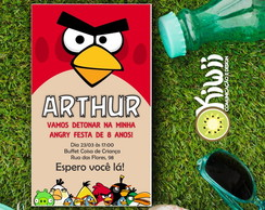 Convite - Angry Birds (Arte Digital)