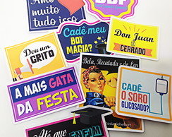 Kit 20 plaquinhas divertidas Formatura