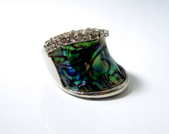 anel abalone strass