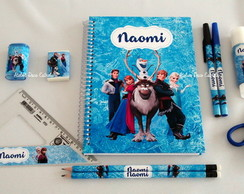Kit Escolar/Pintura Luxo do Frozen