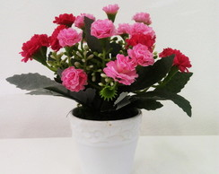Mini Kalanchoe Rosa Artificial