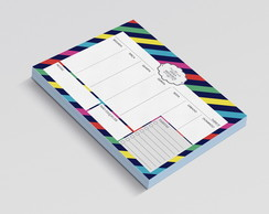 PLANNER DE MESA SEMANAL STRIPES KATE