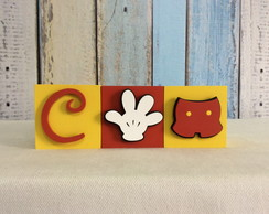 Cubos Decorativos 6x6cm Disney
