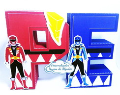 Letras 3D Power Rangers