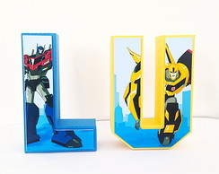Letra 3D Transformers Robots in Disguise