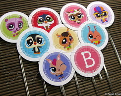 Topper M p/ doces - Littlest Pet Shop