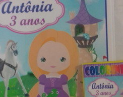 kit p colorir Rapunzel