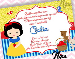 Convite Branca de Neve Cute Digital