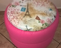 Puff Paris Rosa