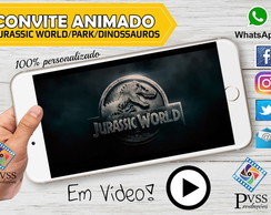 VIDEO CONVITE ANIMADO - JURASSIC WORLD