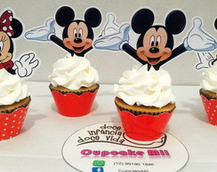 Topper para cupcake Mickey e Minnie