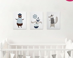 Kit 03 Placas Decorativas Infantil