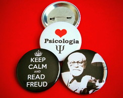 Kit (3) Buttons: Psicologia e Freud