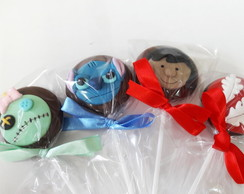 Pirulito de chocolate Lilo e Stitch