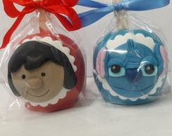 Maça de chocolate Lilo e Stitch