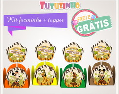 Kit Forminha + Topper Mickey safari