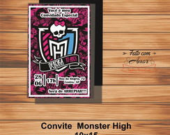 CONVITE MONSTER HIGH (10x15) pct 20 unid