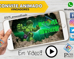 VIDEO CONVITE ANIMADO - VINGADORES