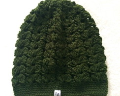 Gorro Crochê Verde Paris