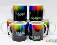 Caneca de Porcelana Glow Party
