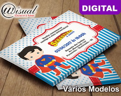 Convite Digital Superman Cute