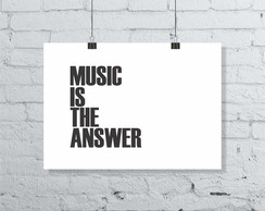 POSTER MUSIC IS