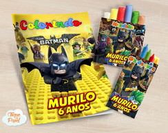 Kit colorir giz massinha Lego Batman