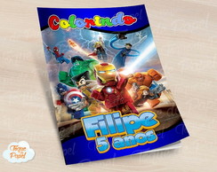 Revista colorir Lego Super Heróis