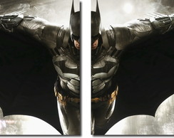 quadro decorativo batman vs arkham 2 pç