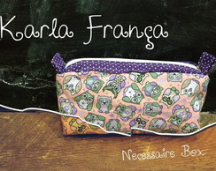 Necessaire Box - Estampa Corujinha Rose