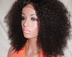 Front Lace Cabelo Humano Afro