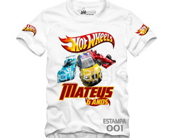 Camiseta Hot Wheels Personalizada