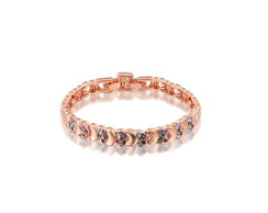 Pulseira Cristal Color Rose
