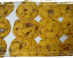 Cookie de cenoura com chocolate