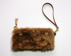 Bolsa clutch de mão COOL Soft Brown