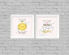 Kit quadro infantil happy my sunshine