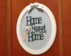 Placa p/ porta ou parede - Home