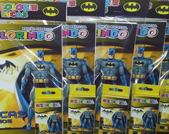 Kit Colorir Revistinha Batman +giz cera