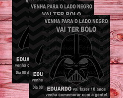 Convite Darth Vader - Star Wars