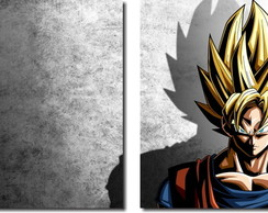 Quadro Decorativo Dragon Ball Goku 2 pç