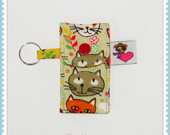 Porta Pendrive Gatos Coloridos