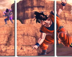Quadro Decorativo Dragon Ball Goku 3pç
