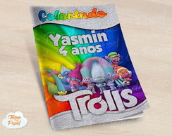 Revista colorir Trolls