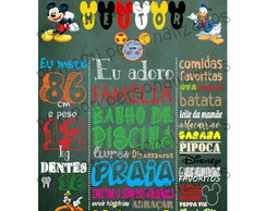 Chalkboard Mickey Mouse - Arte digital